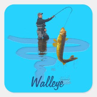 Walleye Fishing Outdoor Fisherman's Sporting Gift Square Sticker