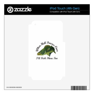 WALLEYE FRONT VIEW SKINS FOR iPod TOUCH 4G