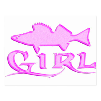 WALLEYE GIRL POSTCARD