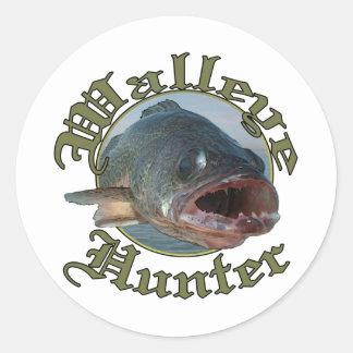Walleye Hunter 2 Classic Round Sticker