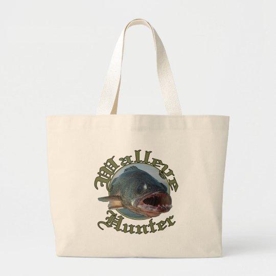Walleye Hunter 2 Large Tote Bag