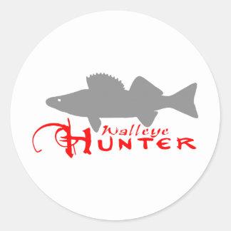 WALLEYE HUNTER CLASSIC ROUND STICKER