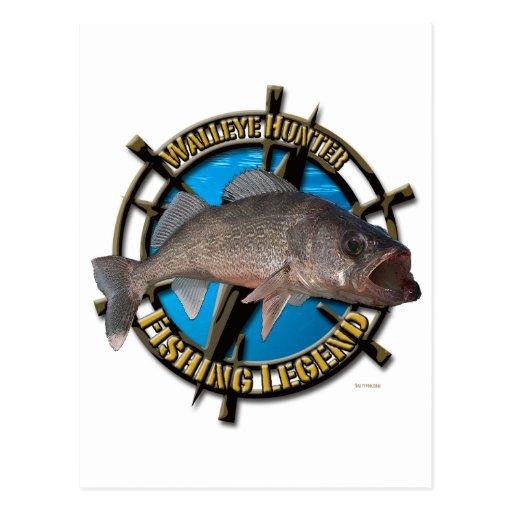Walleye hunter post card