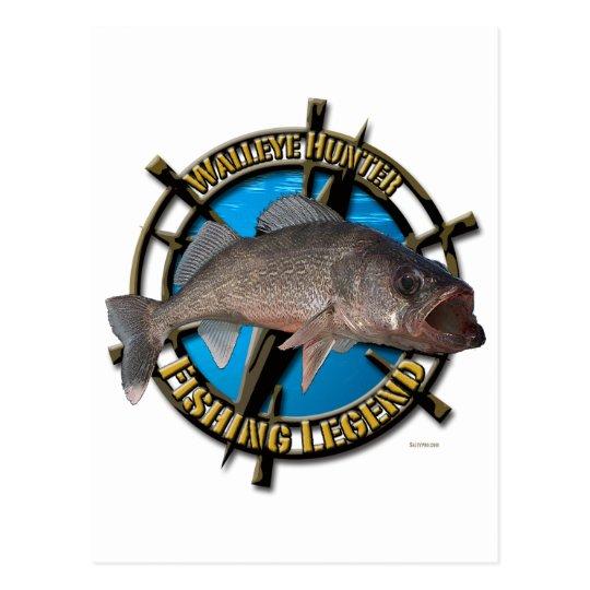 Walleye hunter postcard
