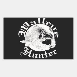 Walleye hunter w rectangular sticker