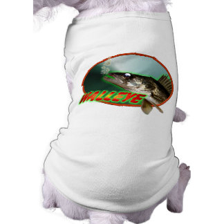 Walleye In Oval Dog T Shirt