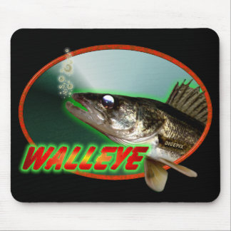 Walleye In Oval Mouse Pad