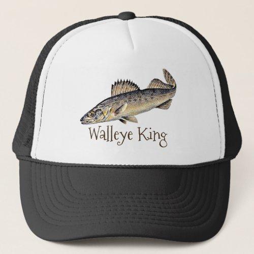 Walleye King Trucker Hat