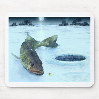 Walleye on Ice Mouse Pad