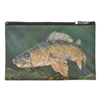 Walleye Original Painting Travel Accessories Bag