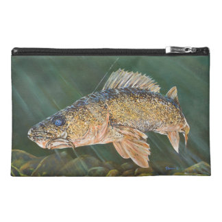 Walleye Original Painting Travel Accessory Bag