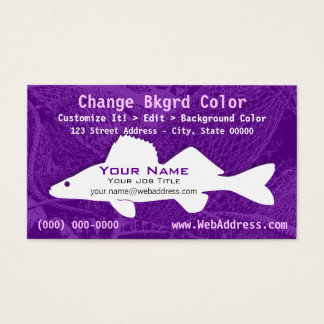 Walleye Pike Fish Business Card