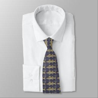 Walleye Pike on Navy Blue Tie