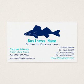 Walleye Pike Silhouette Business Card