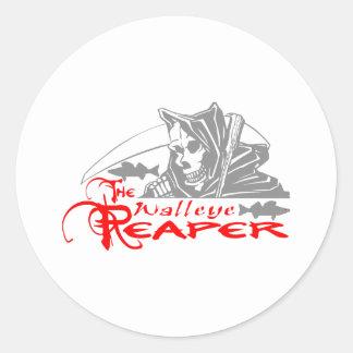 WALLEYE REAPER CLASSIC ROUND STICKER