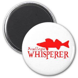 WALLEYE WHISPERER 2 INCH ROUND MAGNET
