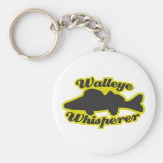 Walleye Whisperer Basic Round Button Keychain