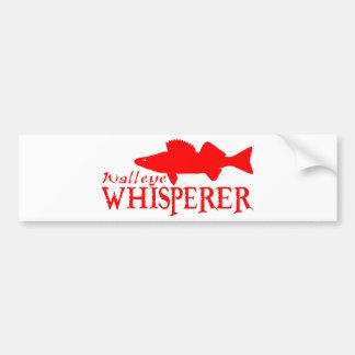 WALLEYE WHISPERER BUMPER STICKER