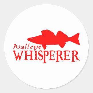 WALLEYE WHISPERER CLASSIC ROUND STICKER