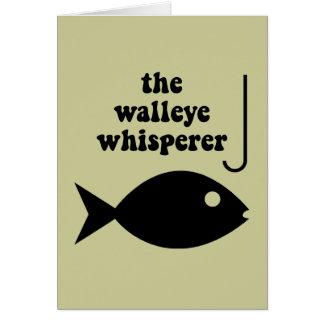 walleye whisperer fishing card