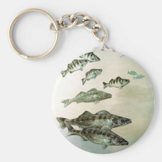 walleye yellow perch and pike keychain
