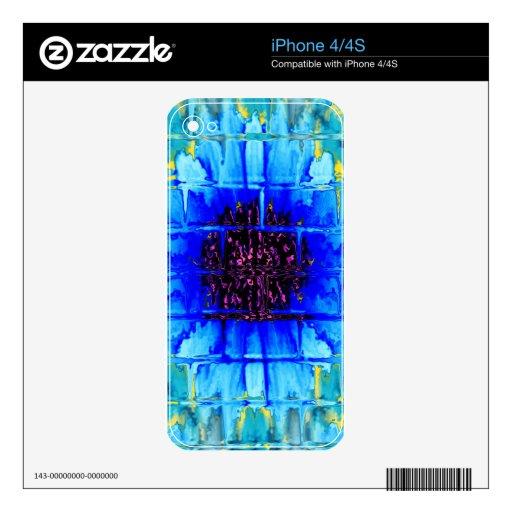 Wallflower azul iPhone 4S calcomanías
