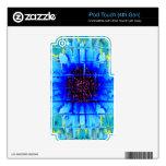 Wallflower azul iPod touch 4G calcomanía