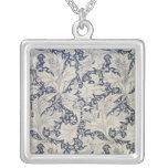 Wallflower' design square pendant necklace