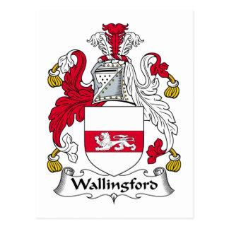 Wallingford Family Crest Postcard