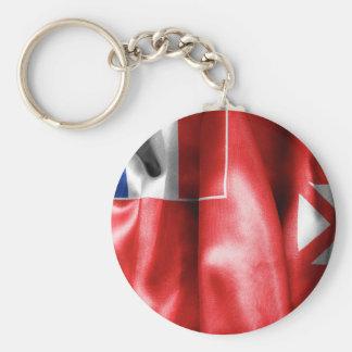 Wallis and Futuna Flag Basic Round Button Keychain
