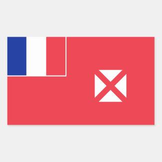 Wallis and Futuna Flag. France, Outre-Mer Rectangular Sticker
