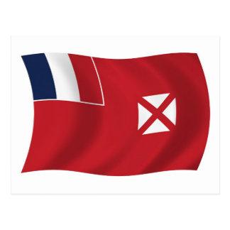 Wallis And Futuna Flag Postcard