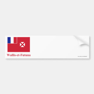 Wallis and Futuna Flag with Name in French Bumper Sticker