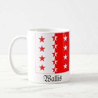 Wallis, banderas de Schweiz Fahnen Taza Clásica