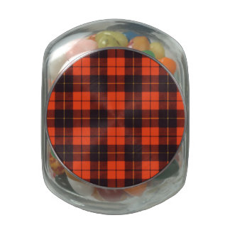 Wallis clan Plaid Scottish tartan Glass Candy Jar