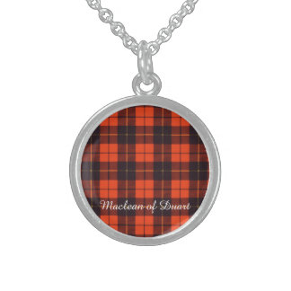 Wallis clan Plaid Scottish tartan Sterling Silver Necklace