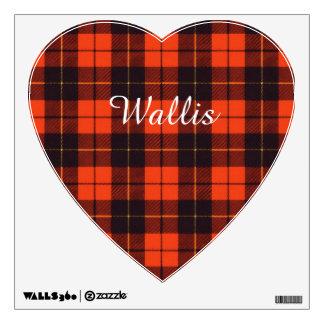 Wallis clan Plaid Scottish tartan Wall Decal