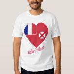 Wallis & Futuna Flag Heart Tshirt
