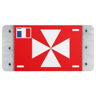 Wallis Island Flag License Plate