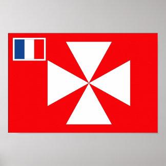 Wallis Island Flag Poster