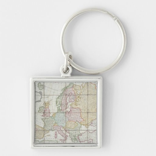 Wallis' New Map of Europe Keychain