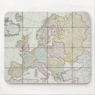 Wallis' New Map of Europe Mouse Pad