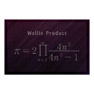 Wallis' Pi Formula - Math Poster