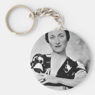 Wallis Simpson Llavero Redondo Tipo Pin