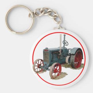 Wallis Tractor Basic Round Button Keychain