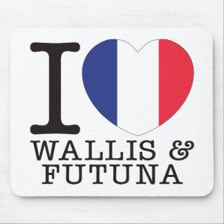 Wallis y amor v2 de Futuna Alfombrillas De Ratón