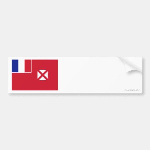 Wallis y bandera de Futuna Pegatina De Parachoque