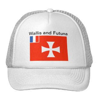 Wallis y gorra de la bandera de Futuna