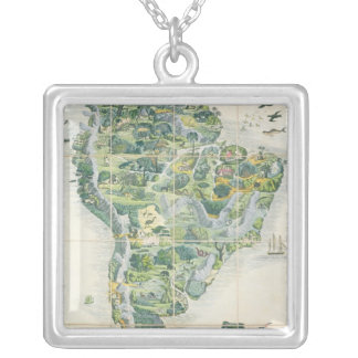 Wallis's New Game of Wanderers in the Silver Plated Necklace
