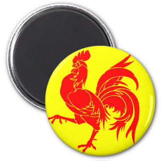 Walloon (Belgium) Flag - Drapea Walon Magnet